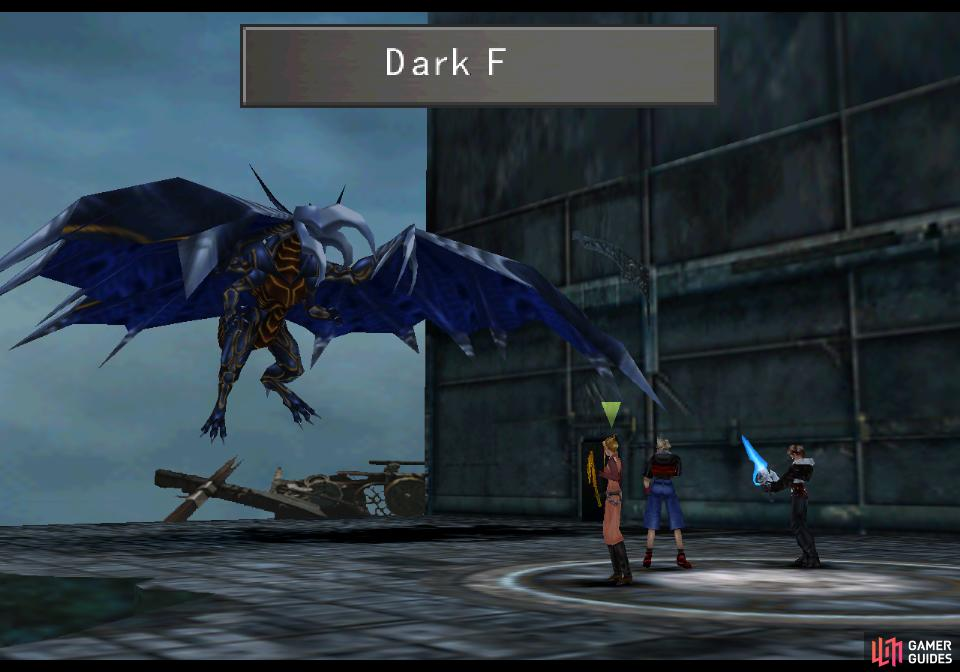 Tiamat's only attack is Dark Flare, which is deployed after the name fills the action bar at the top of the screen.