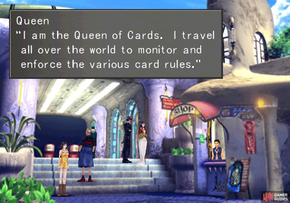 The Queen of Cards may be a bit grandiose and theatrical