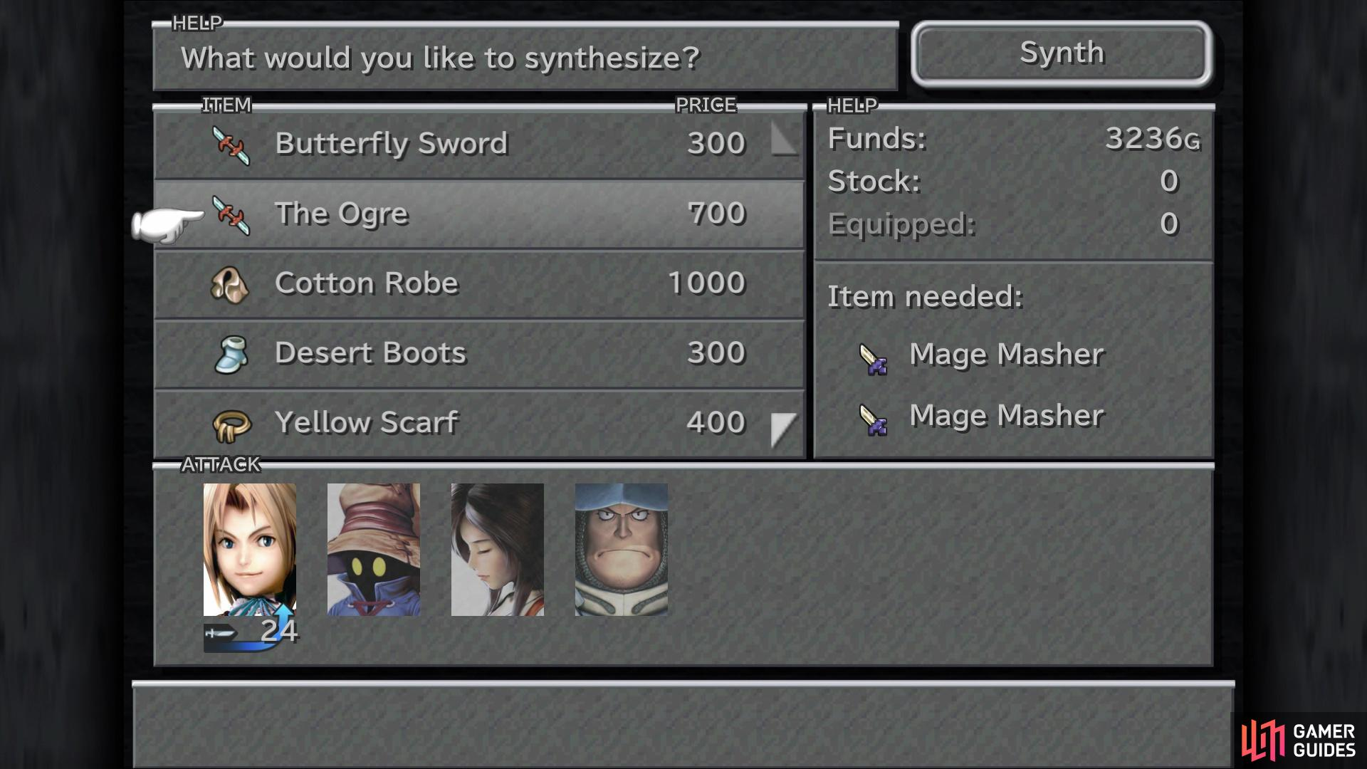 Synthesis can allow you to get some nice gear earlier than usual