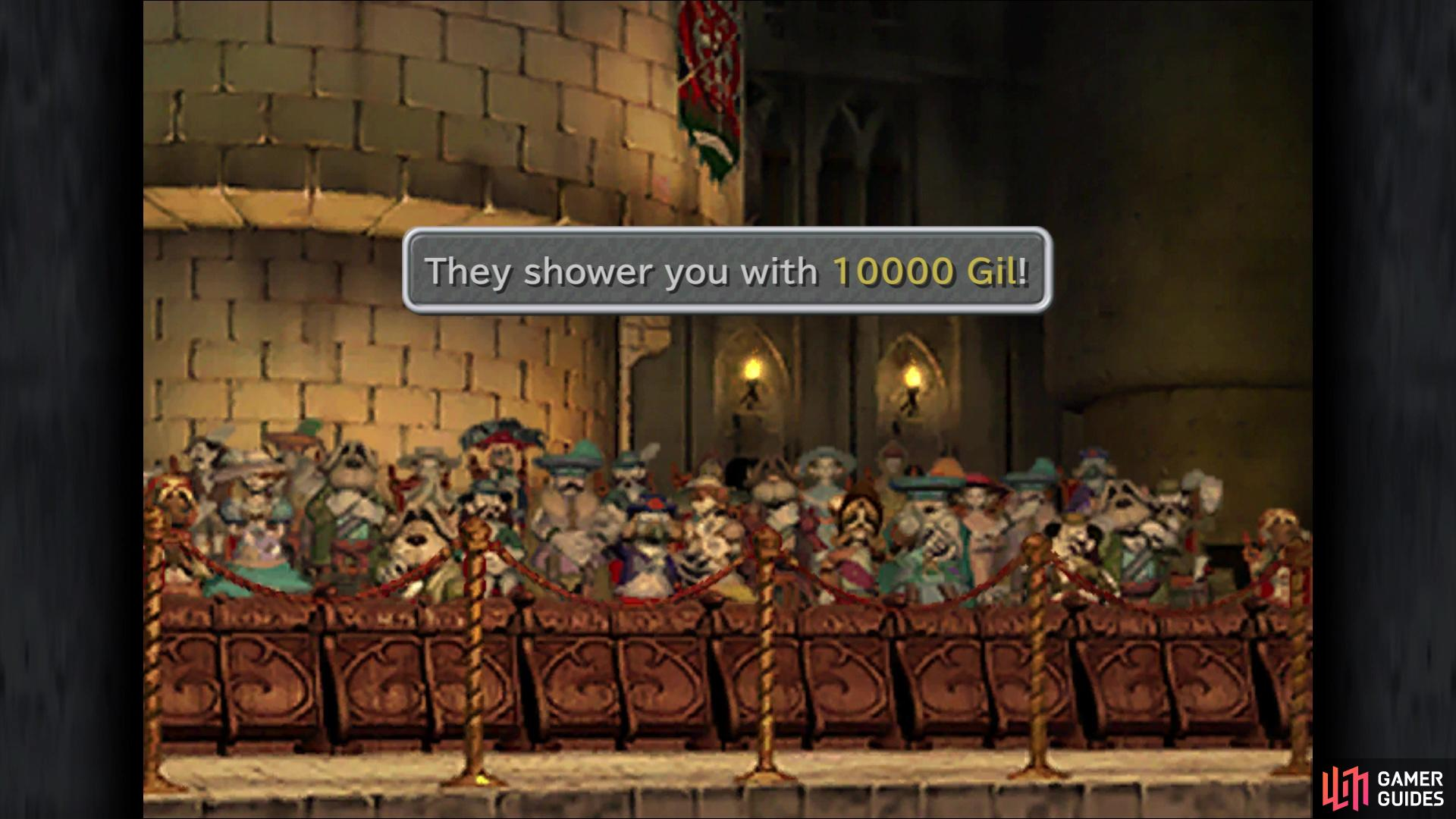 Impress 100 Nobles to earn 10,000 Gil