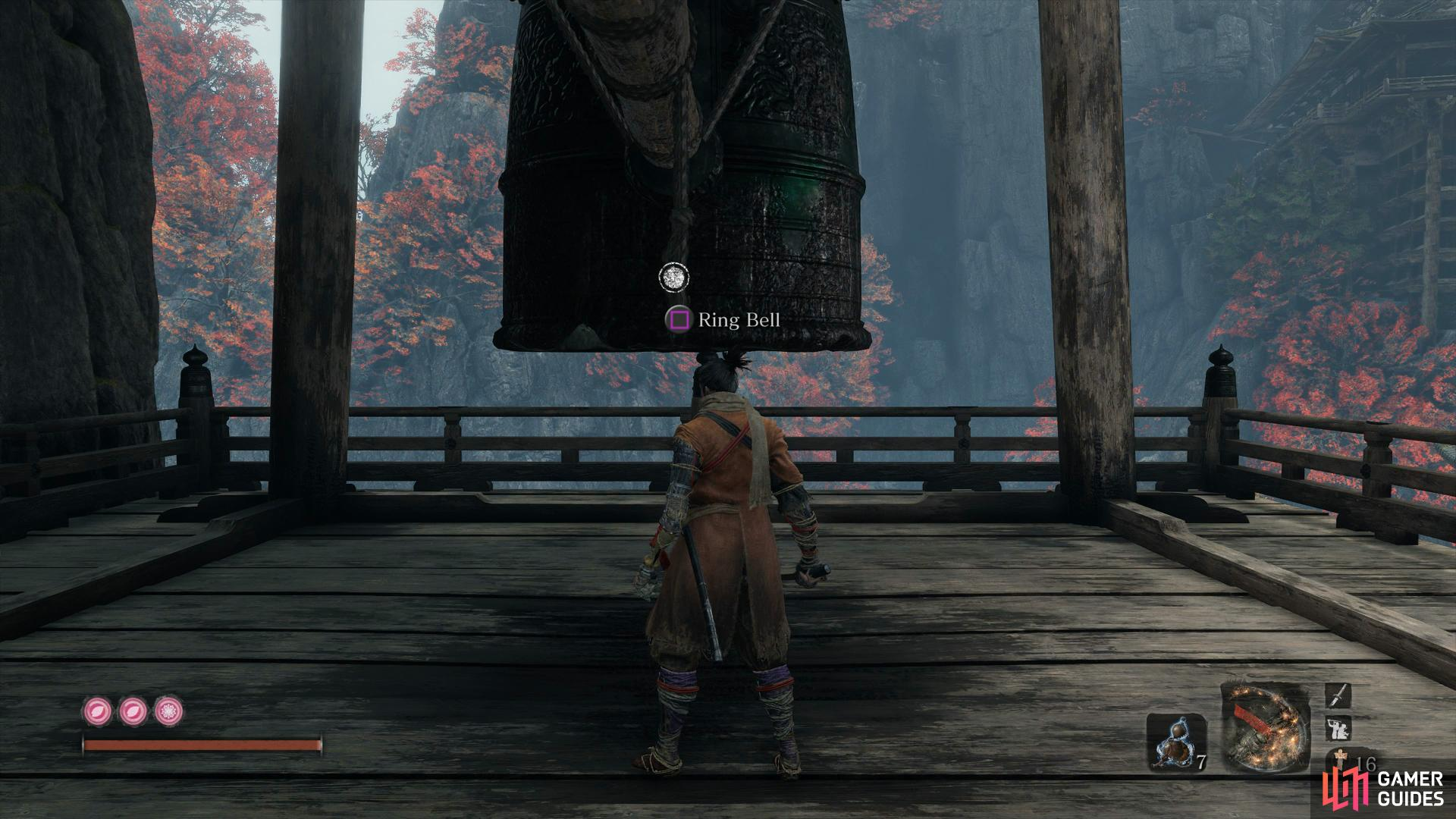 Ringing this bell will increase the difficulty of the enemies