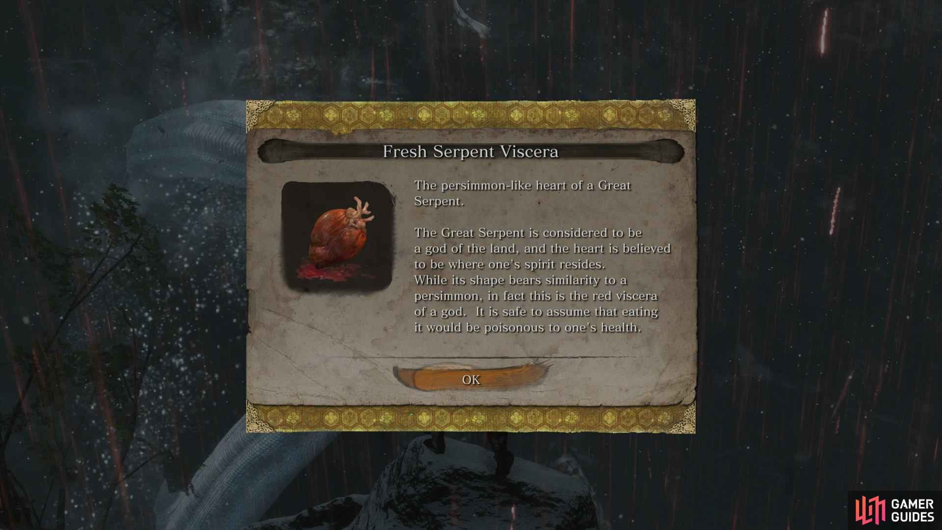 to obtain an item needed for an ending.