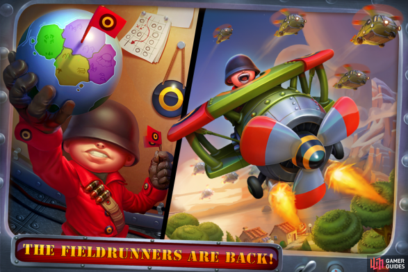 Fieldrunners 2 is a strategy-heavy Tower Defence game, that requires you to prevent those pesky Fieldrunners from reaching the exit(s) on each map using the money you earn to strategically buy and place death-dealing towers - and items - in the most optimal of locations. Every unit you kill means the more money you earn, allowing you to buy and upgrade your existing tower arsenal even further.  Every map you complete on a chosen difficulty level earns you more stars; more stars mean more towers are unlocked for you to take down those Fieldrunners with. The ultimate goal is to not only reach the final level and save the day, but do it with style and earn the coveted 3-stars on every level. Which is where this official strategy guide comes in...