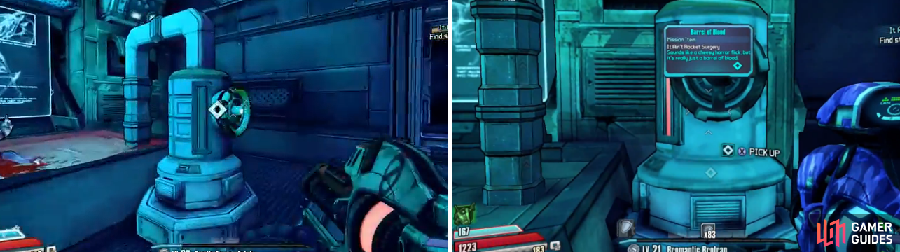 Just interact with the container, wait for the blood to fill it, then you can grab the stalker blood.