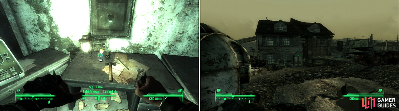 fallout 3 how to get to bethesda ruins