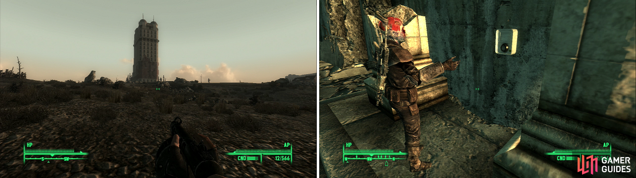 Tenpenny Tower dominates the skyline of the western Wasteland (left) but it isnu0027t open to everyone (right). & Tenpenny Tower / Unfinished Business / Fallout 3 Strategy Guide ...