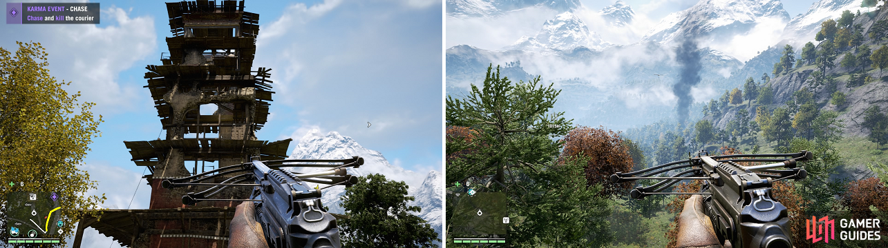 Both Bell Towers (similar to Radio Towers) and Outposts return in Far Cry 4, with functions being the same as in the previous game.