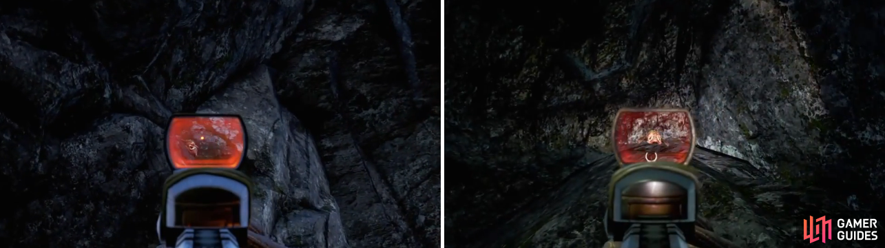 The first and fifth Masks (from the above list) are located near the ceiling in their respective caves.