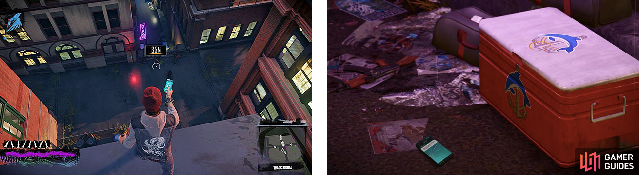 Tracking Czalov's position will bring you to a spot with a lot of thugs guarding a second crime scene, where you will be required to take more pictures, like the drugs (right).