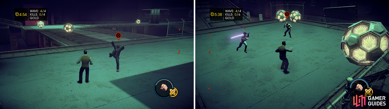 The final round in each instance is against a former Saints Row character, who are more challenging than the other enemies you face.