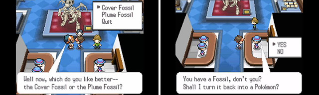 In Pokemon, you can bring fossils back to life just like in Jurassic Park.
