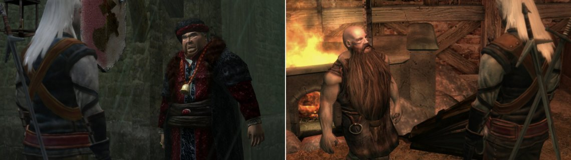 There are two blacksmiths-one of whom will service you at a time, depending on whether you have more favor with the Order (left) or the non-humans (right).