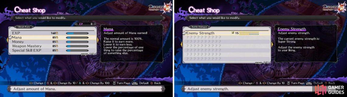 The Cheat Shop will be one of the most important tools at your disposal, not only during the main game, but also the postgame.