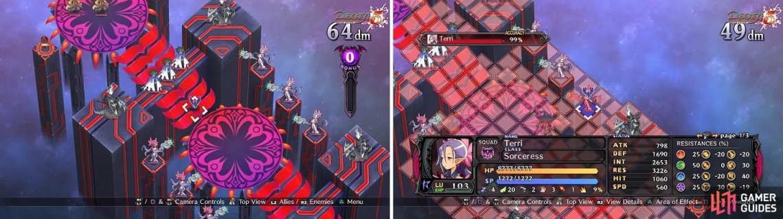 "The ""Stairway of Death"" doesn't leave a lot of room to space your characters (left). You'll need ranged attacks to deal with the Sages (right)."