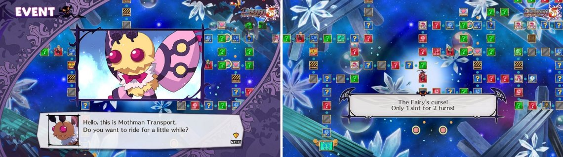 The Event Panels can have good effects (left), as well as bad ones (right).