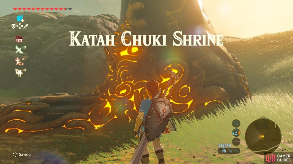 Katah Chuki Shrine Central Hyrule Region Towers And Shrines The Legend Of Zelda Breath Of The Wild Gamer Guides