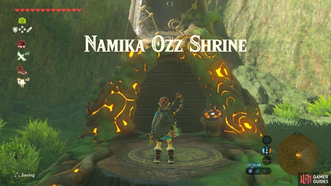 Namika Ozz Shrine Central Hyrule Region Towers And Shrines The Legend Of Zelda Breath Of The Wild Gamer Guides