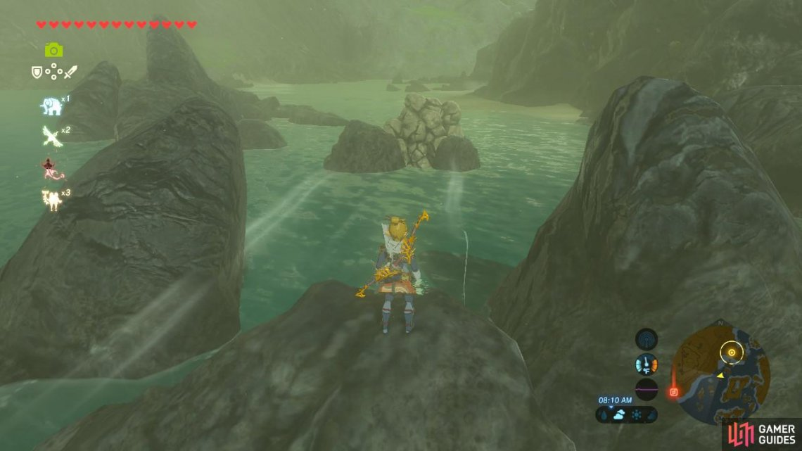One of the rocks is out wedged between two other boulders. You can reach it by using Cryonis