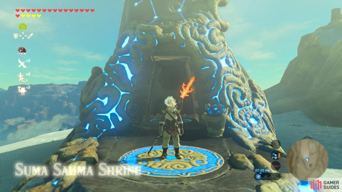 Suma Sahma Shrine Wasteland Region Towers And Shrines The Legend Of Zelda Breath Of The Wild Gamer Guides If you need help finding and solving other shrines, our shrine location maps page can help, while our zelda: suma sahma shrine wasteland region