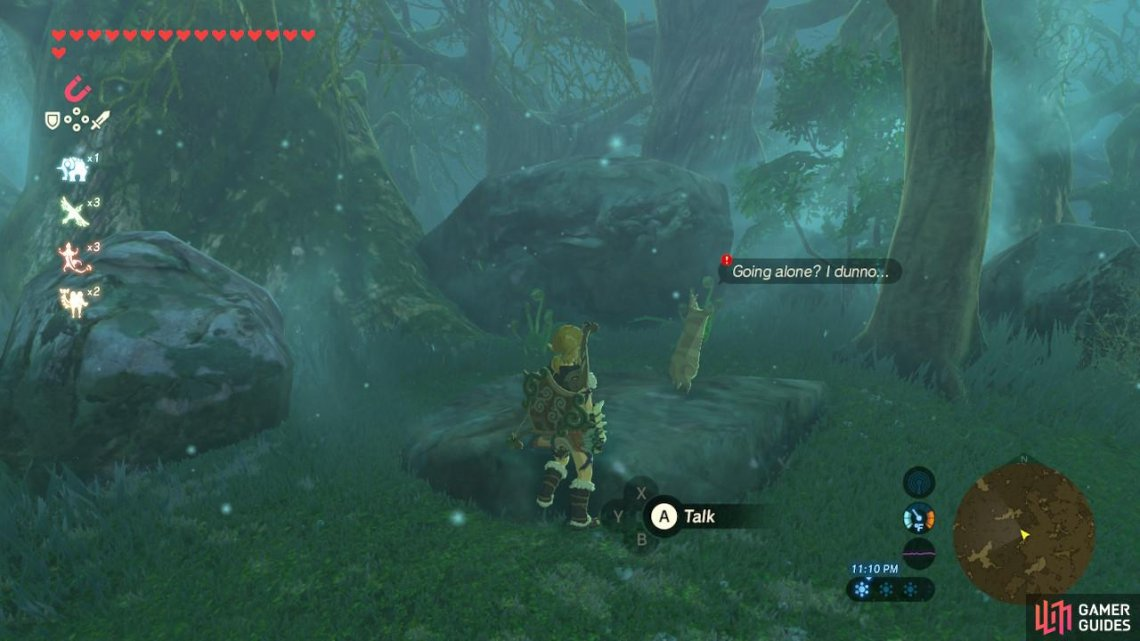 Talk to this lonely Korok in the Lost Woods