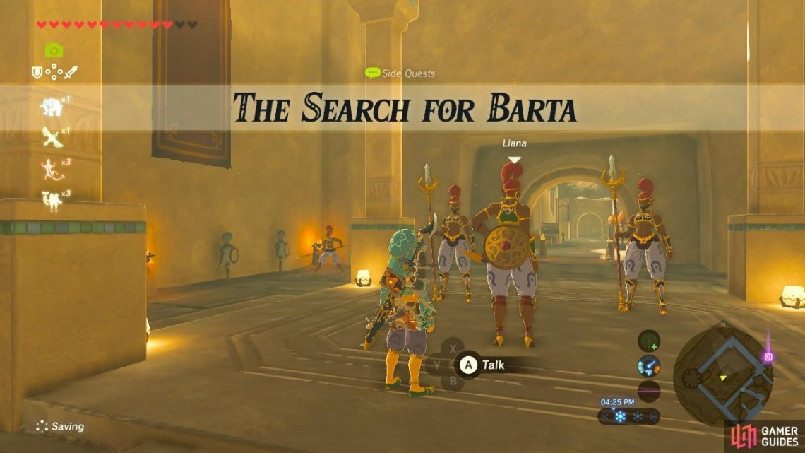 The Search For Barta Sidequests Quests The Legend Of Zelda Breath Of The Wild Gamer Guides 2 one uses chalk for writing on the blackboard. quests the legend of zelda breath