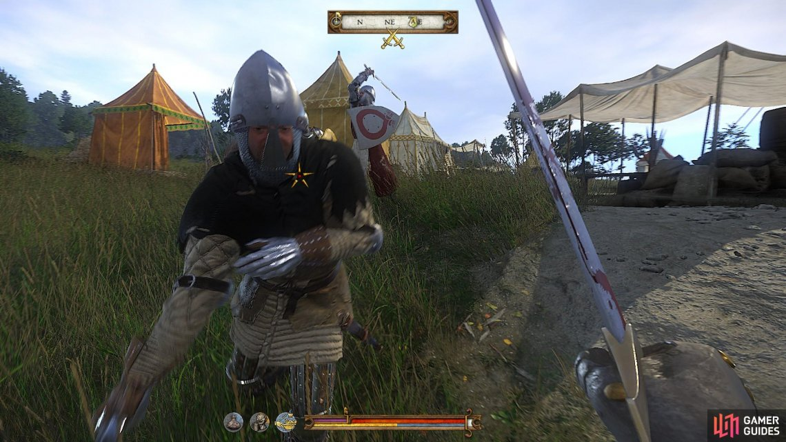 Run ahead to the trebuchet and help to defend it until every last bandit is defeated.