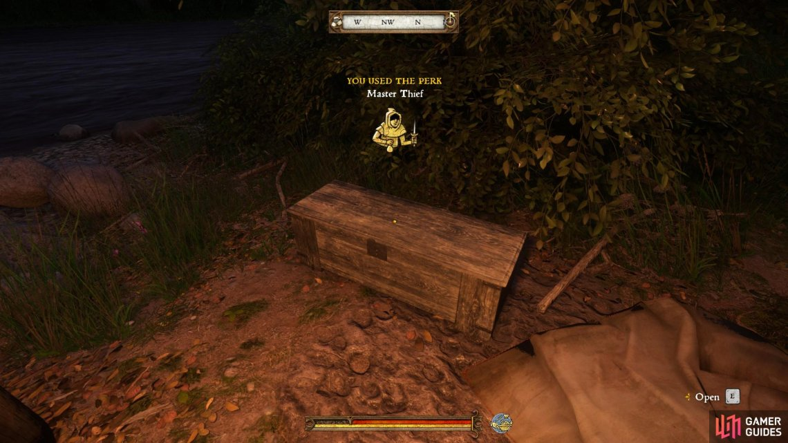 Kill the bandits and loot the chest in the camp to find the moldavite inside.
