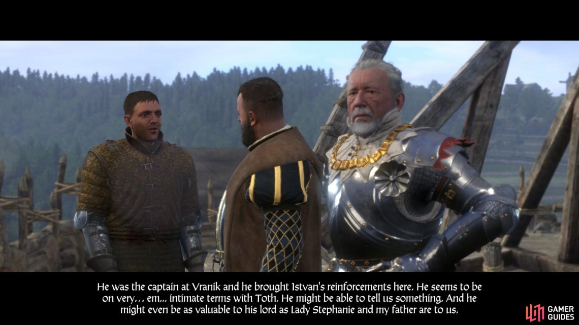With the trebuchet still in working order, Henry suggests that Sir Divish attempt to exchange hostages with Istvan Toth.