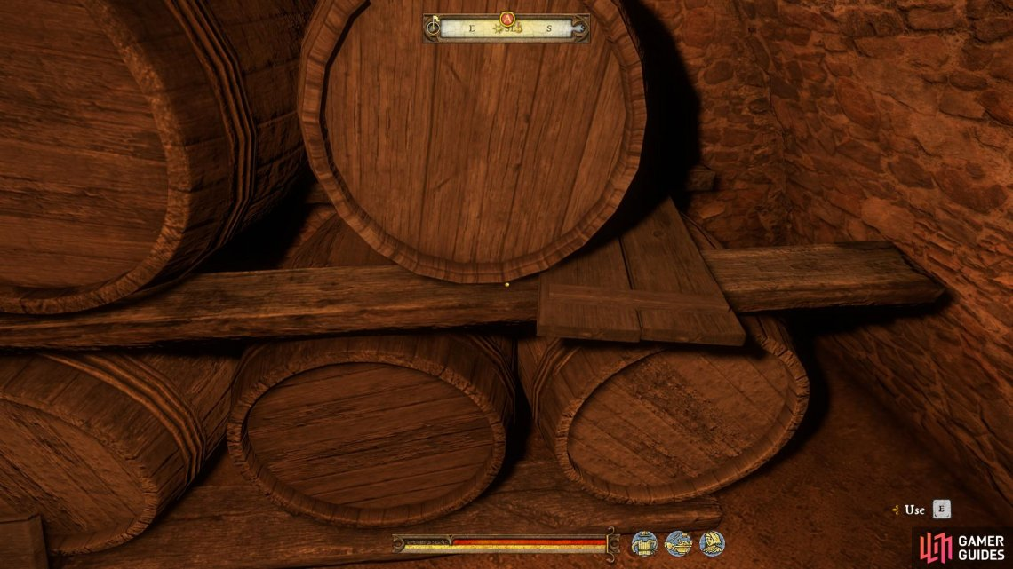 Take the pitcher to the wine barrels and use them to fill it up.