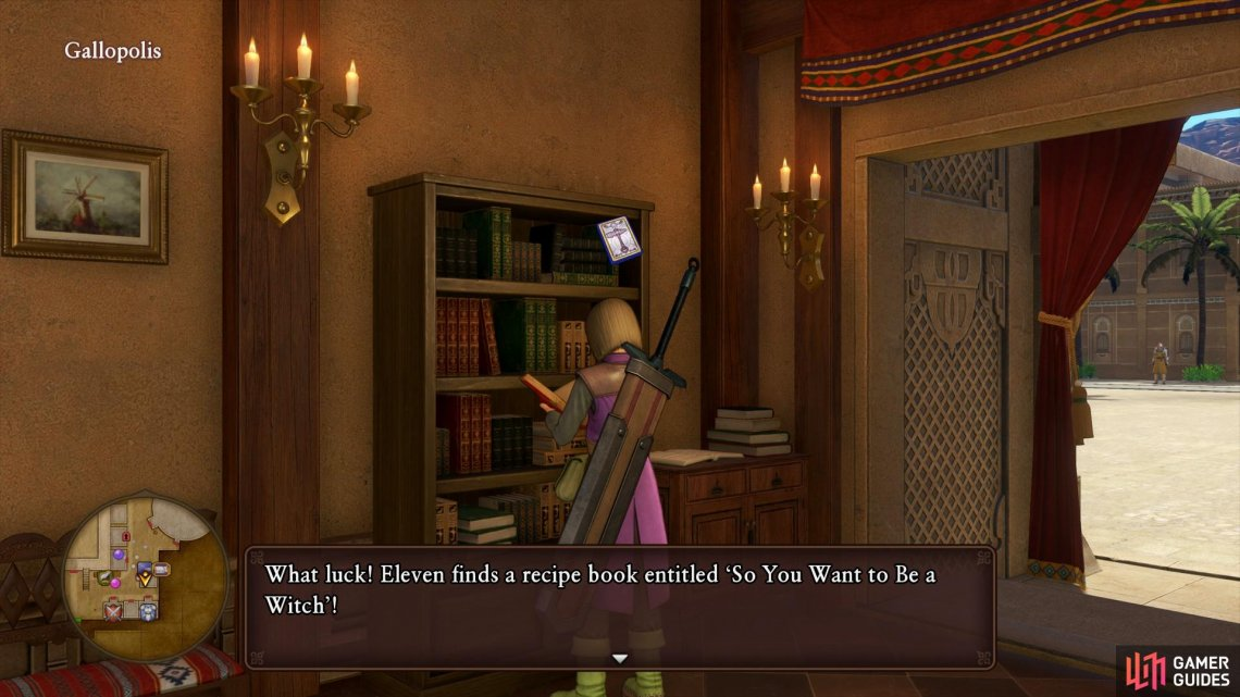 Search the bookshelf in the Inn for a Recipe Book to forge magical based equipment