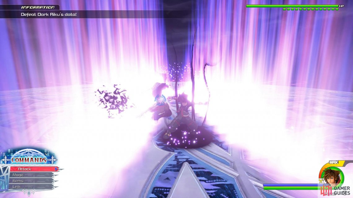 Dark Riku will generate Shockwaves throughout which can be deflected