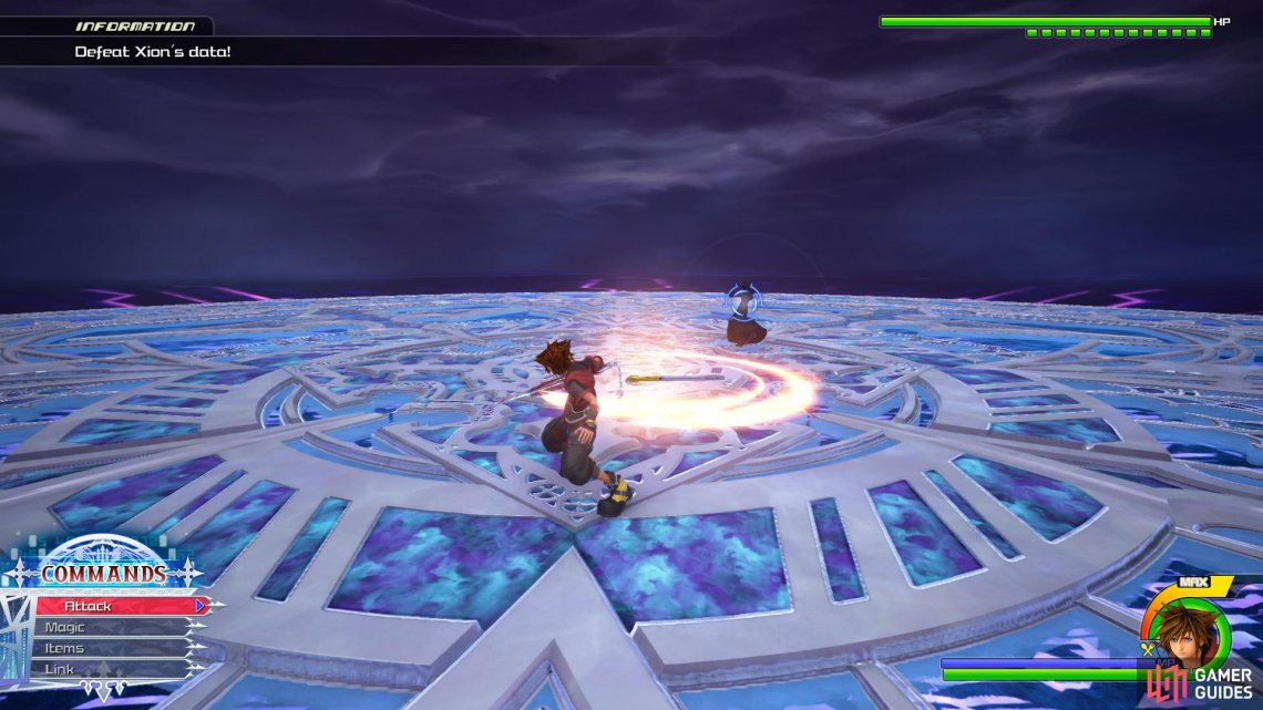 You can easily counter her Keyblade Throw