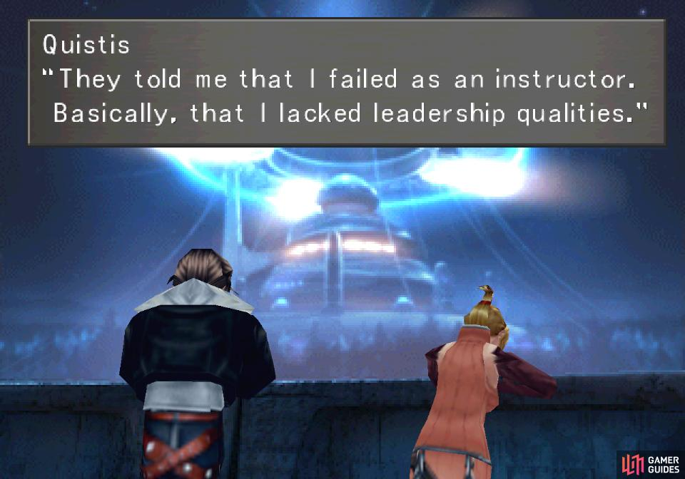 Quistis will confide in Squall