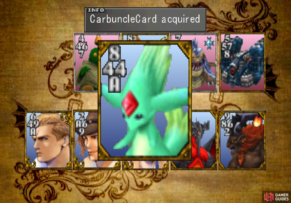 Defeat Xu - aka Queen Heart - and take her Carbuncle Card
