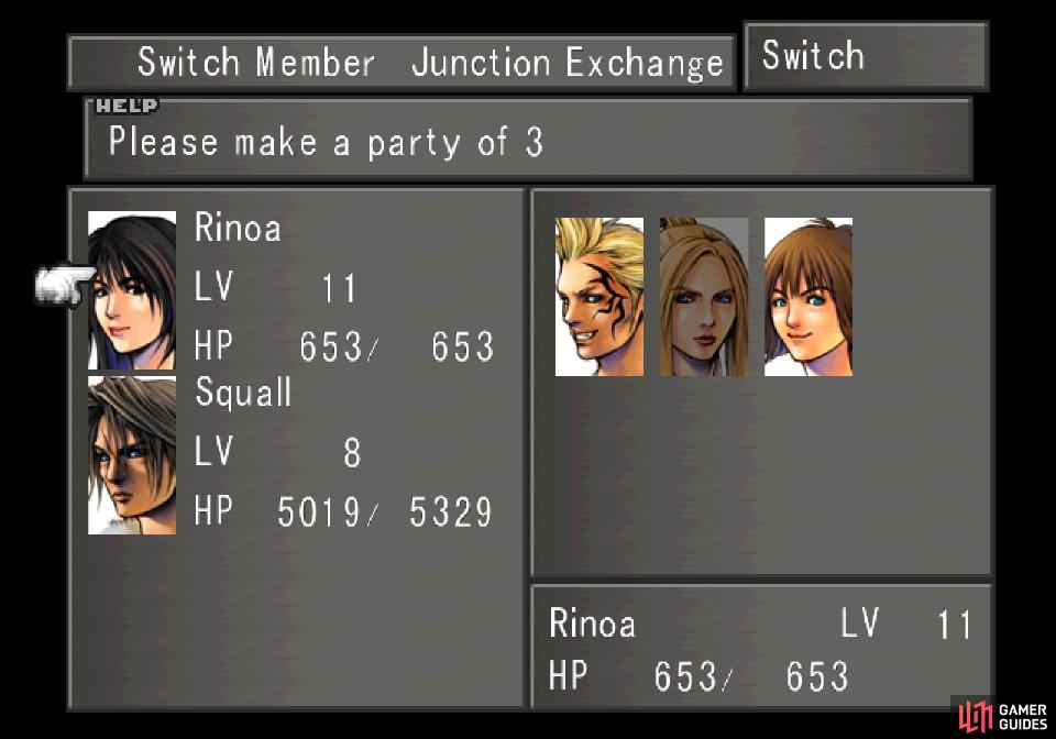 You'll have to make a party comprised of Rinoa and Squall