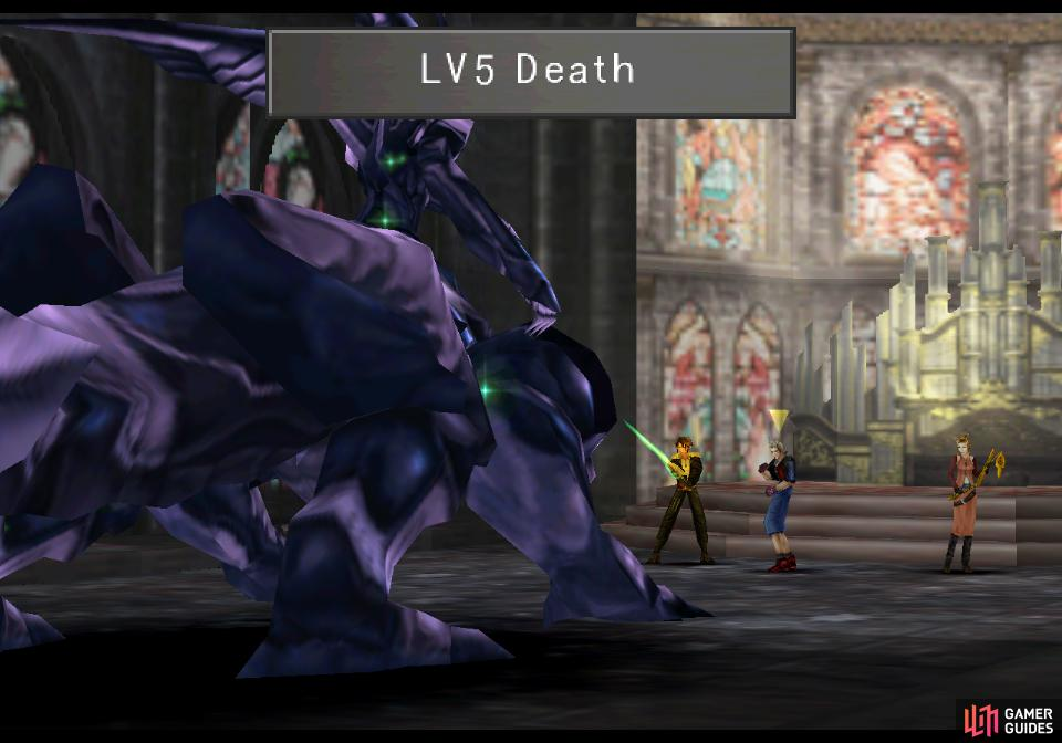 Omega Weapon will start out the  fight with Lv5 Death.