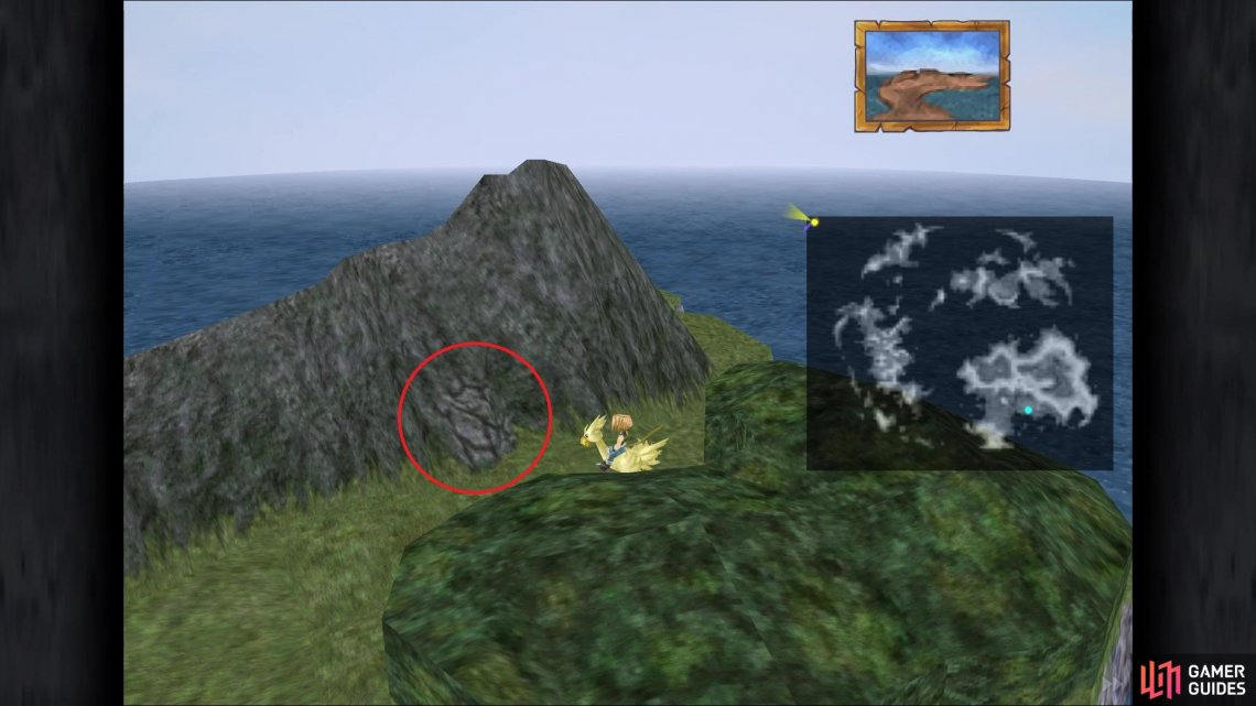 Chocobo's Paradise is located in the top left corner of the world map and is not marked on the map