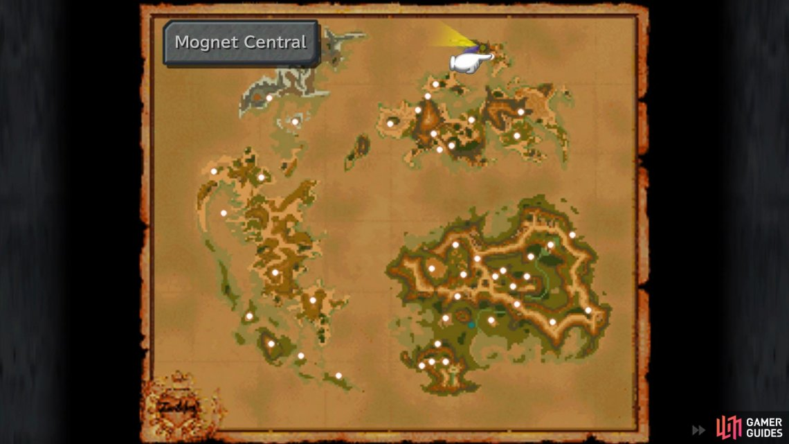 The location of Mognet Central on the world map