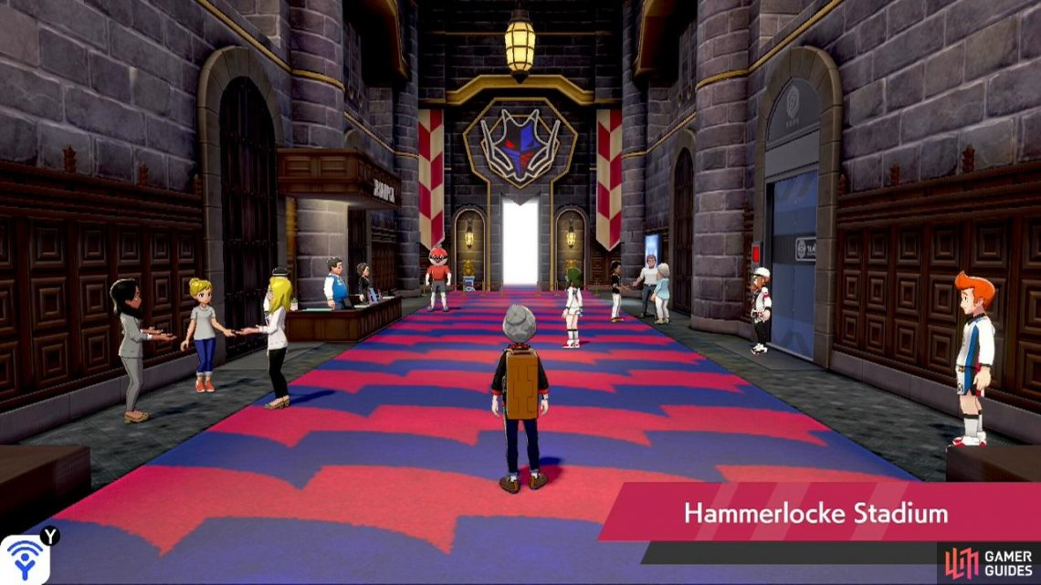 Hammerlocke Stadium Dragon Gym Challenge 2 Walkthrough Pokemon Sword Shield Gamer Guides It is the final gym to be challenged in the galar region, and the gym leader is raihan. hammerlocke stadium dragon gym