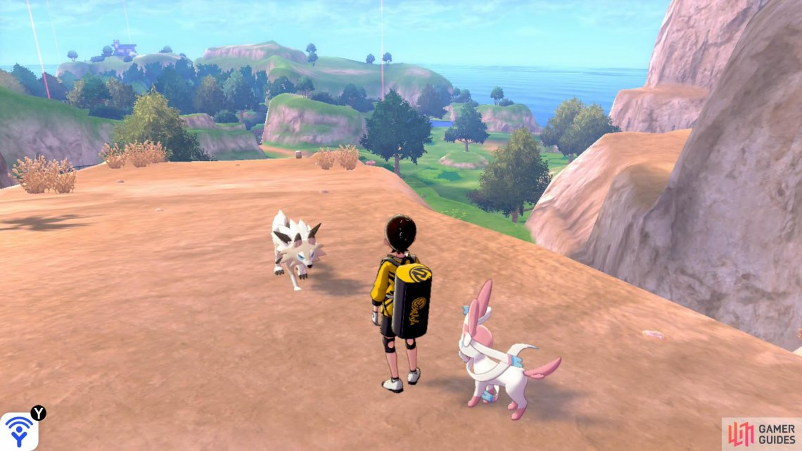 Lycanroc has three forms, two of which can be found roaming the area.