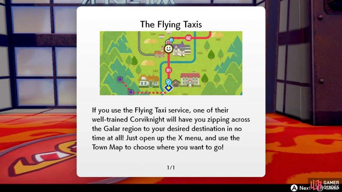 The Flying Taxi functions similarly to HM Fly in earlier games.