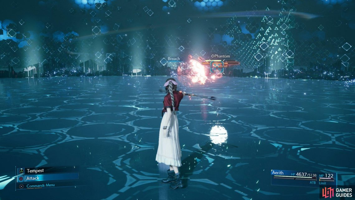 Aerith needs Subersion set at all costs or you'll be stuck when Phantom uses Reflect.