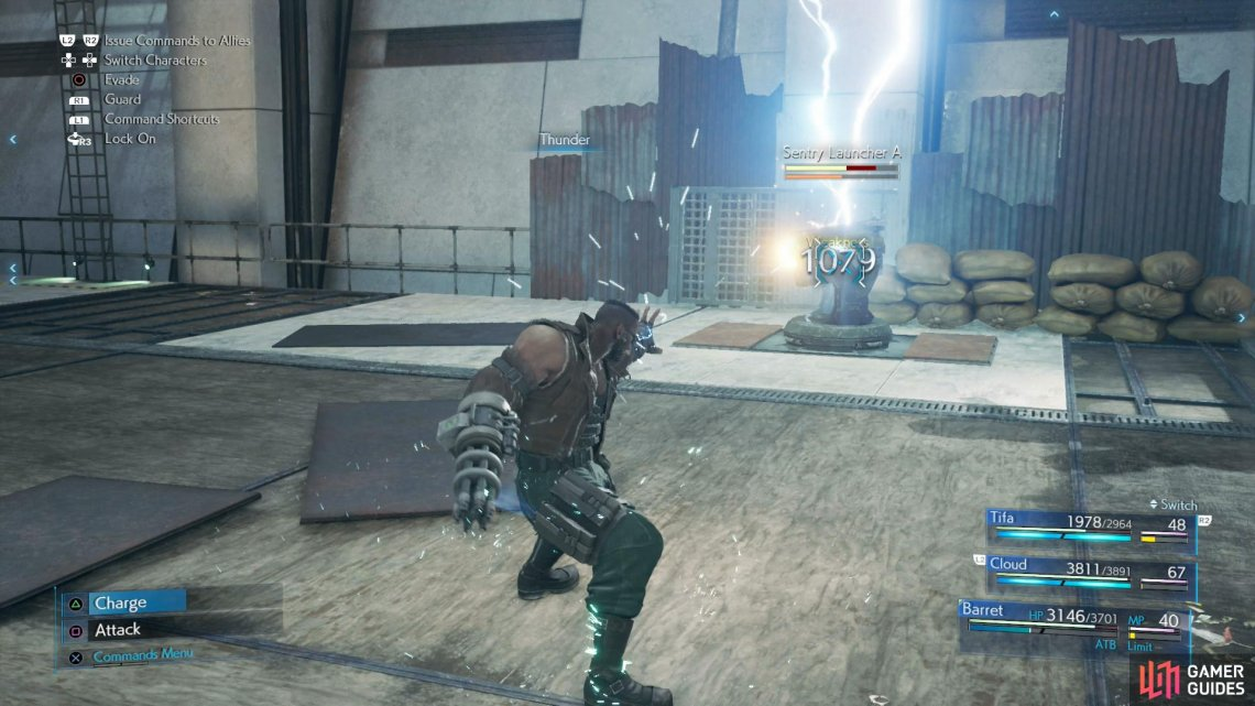 Use Thunder to quickly take out the Sentry Launchers,