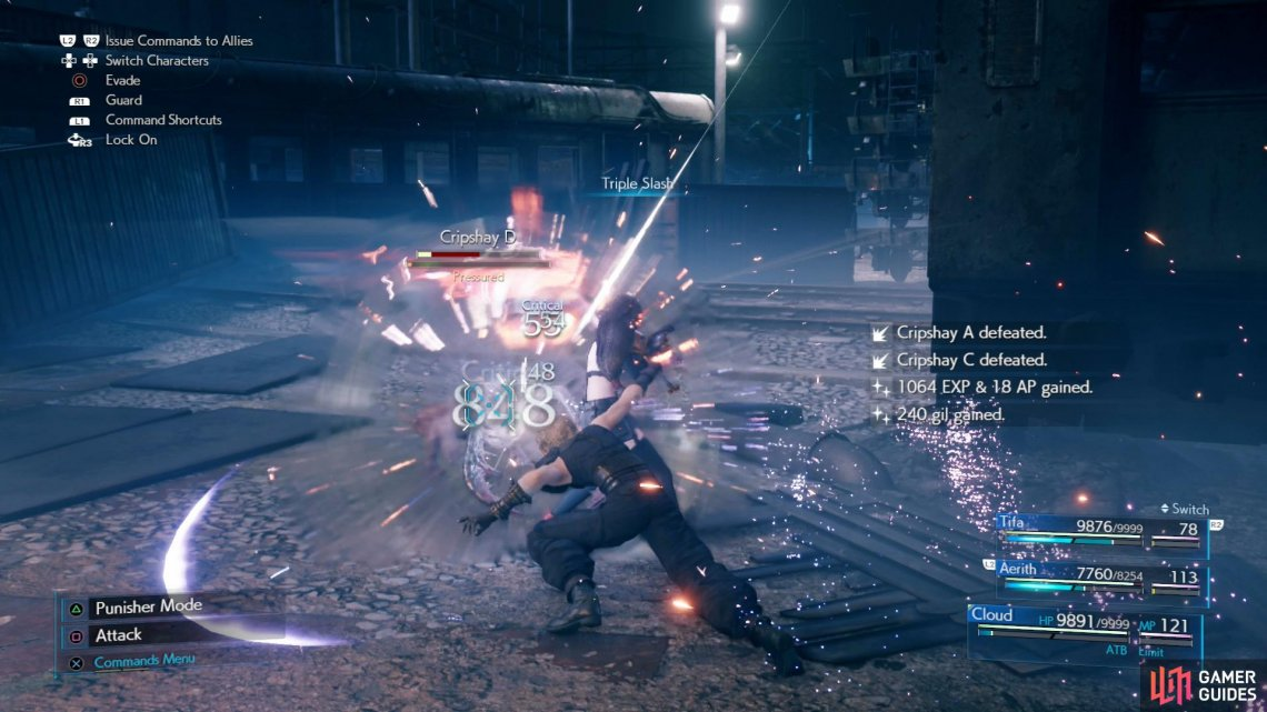 """Triple Slash"" is once again a useful ability to use at the outset of every battle."