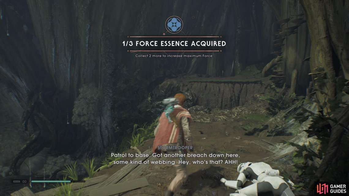 Collect the Force Essence from the back of the room after defeating Albino Wyyyschokk.