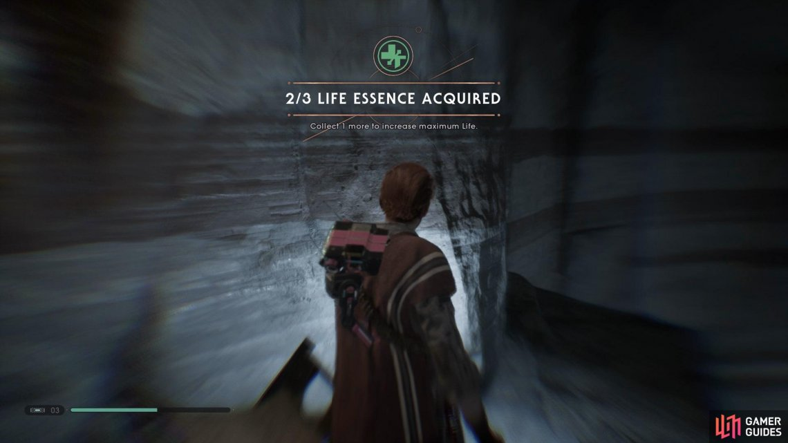 Head to the Subterranean Refuge to find the first Life Essence.