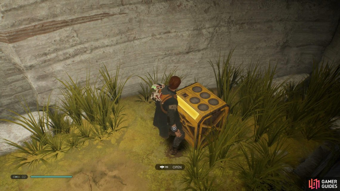 Head down the hole in Binog Mesa to find a Golden Chest that contains the first Stim Canister