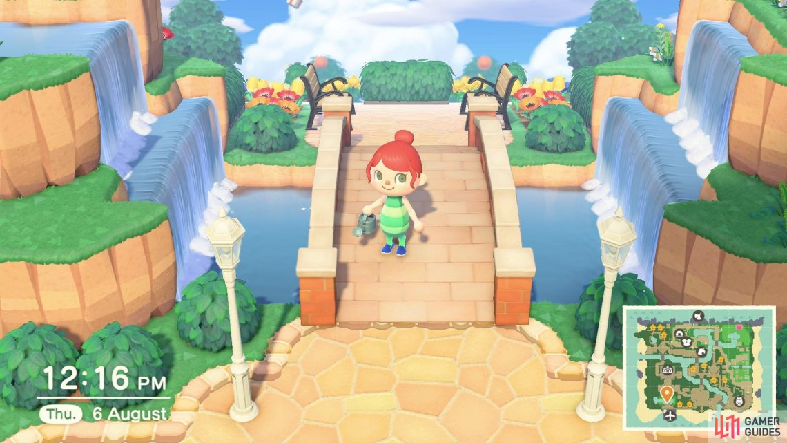 You can use both the cliff construction tool and the waterscaping tool to create a magical entrance.