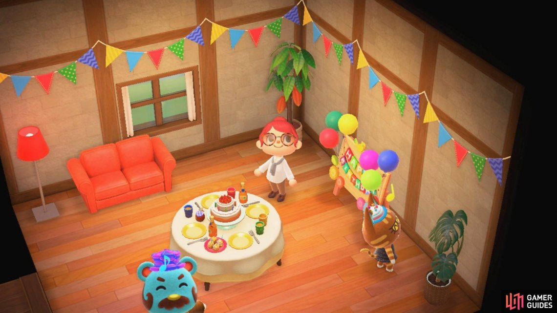 Make sure you attend your villagers' birthday parties!