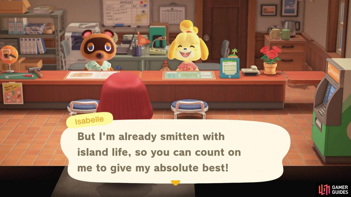 Isabelle is here to help with your island needs!